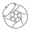 Substituição das pastilhas de freio e retífica dos discos